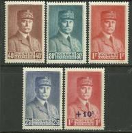 "Fraance      "" Marshal  Pétain ""    Set     SC# 415-18, B111  Mint - Unused Stamps"