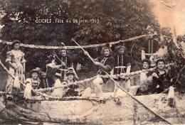 Seiches-sur-le-Loir..très Animée..Fête Du 20 Juin 1909..cavalcade..défilé..Top Carte - France