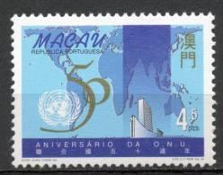 Chine : (3) 1995 Macao - Cinquantième Anniv D'organisation Des Nations Unies SG911** - Andere