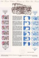 """DPO 1989 Document Officiel 13-89 """" PERSONNAGES CELEBRES DE LA REVOLUTION """" N° YT BC2570 - Franz. Revolution"""