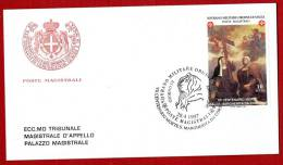 Smom 1997 - FDC Poste Magistrali Serie Santa Margherita Da Cortona (Sassone N. 513) - Malta (Orde Van)