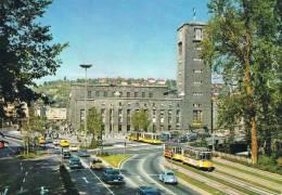 STUTTGART - Hauptbahnhof - Animation Avec Tramways Et Auto : Cox. Et Mercedes - TBE, Carte Neuve, 2 Scans - Stuttgart