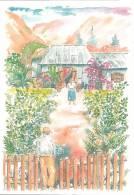 21797 Extrait Livre D Dambreville Tijean Marmaille La Foret, Ile Réunion - Aquarelle Alain Baltz - La Réunion