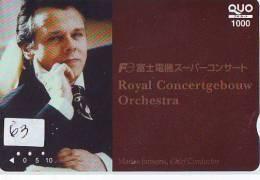 Télécarte Japon * MARISS JANSONS * Chef D ´orchestre (63) CONCERT Musique Music * MUZIEK * PHONECARD JAPAN * CONDUCTOR - Musik