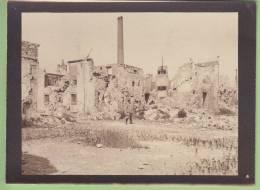 Guerre 1914 - 1918 : REIMS, Bombardement. Usine ? - Guerra, Militari