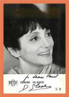 Denise GLASER - Autographe ( Photo ORTF )  // Format CPM - Autographes