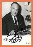 Andre LECLERC - Autographe ( Photo ORTF )  // Format CPM - Autographes