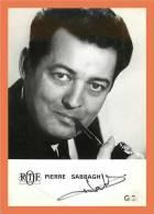 Pierre SABBAGH - Autographe ( Photo ORTF )  // Format CPM - Autographes