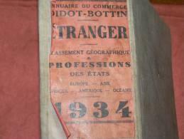 LUXEMBOURG DIEKIRCH   EXTRAIT ANNUAIRE BOTTIN PROFESSIONS 1934 INDUSTRIELS COMMERCES ET METIERS - Annuaires Téléphoniques