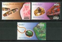 2001 Indonesia Minerali Minerals Gemme Gems Set MNH** Fo174 - Minerals