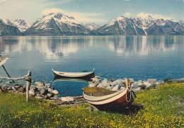 21806- 2cpsm Norvege Tromso,10- Usine Viande Baleine, 11- Lyngenfjord, Pub Proteosulfan -Montreuil Seine