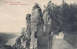 Bastei,  Basteibrücke-Basteifelsen  A-1008 - Bastei (sächs. Schweiz)
