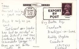 1978 SLOGAN - EXPORT BY POST - Postmark Collection