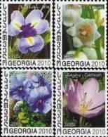 Georgia 2010 Flowers 4v MNH NEW - Georgia