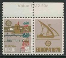Malta 1979 Mi 595 YT 584 ** Costal Watch Tower, Radio Link Towers / Parabolantenne – Europa Cept - Phares