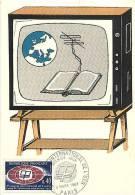 Fev13 22 : Carte Maximum  -  Radio Et Télévision éducatives - Cartes-Maximum