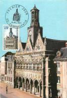 Fev13 28 : Carte Maximum  - Saint-Quentin  -  Premier Jour  -  Hôtel De Ville - 1960-69
