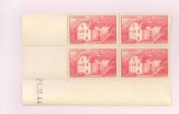 ANDORRE FRANCAIS - Y&T N°104 -  Coin Daté  4 TP **  Du 21/12/1944 - Neufs