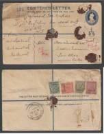 Patiala  State  India 1936  KG V  Registered  Postal Stationery  Envelope Uprated  Used # 33077  Inde Indien - Patiala