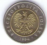 POLONIA 5 ZLOTY 1994 BIMETALLICA - Polonia