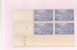 ANDORRE FRANCAIS - Y&T N°113 -  Coin Daté  4 TP **  Du 02/04/1946 - Andorre Français