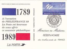 21819 Souvenir Philatelique, 2.2 Bicentenaire  Republique Franciase 1789, 14 Juillet Folon