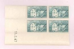 ANDORRE FRANCAIS - Y&T N°108a -  Coin Daté  4 TP **  Du 13/12/1947 - Andorre Français