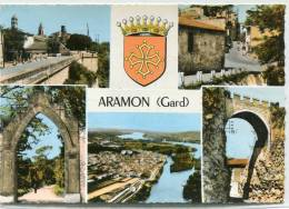 CPSM 30 ARAMON MULTI VUES 1966   Grand Format - Aramon