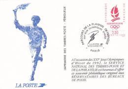 21821 Souvenir Philatelique, 2.5 Alberville 92 XVIe Jeux Olympiques Poste Reservataires Bureaux
