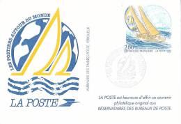 21825 Souvenir Philatelique,2.8 Autour Du Monde Bateau Voilier Whitbread Poste Reservataires Bureaux