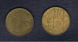 ETIOPIA / ETHIOPIA  -  10 Cent 1977   KM45 - Etiopía