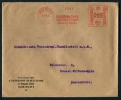 1930 Denmark Copenhagen Handelsbank Freistempel Brief - Covers & Documents