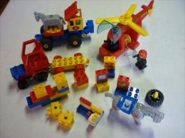 LOT De LEGO Pompier Avec Helicoptère Et  Tracteur Camion Et Autre (voir 3 Photos Et Descriptif ) - Lego System