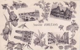 21834 -six 6 Cpa -ORLEANS -souvenir -rue Jeanne Arc - Nef - Entree Pont Royal -rue Royale -caserne Chatillon Artillerie