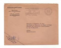Flamme SECAP Evénementielle Illustrée Sur Lettre à Entête Et Cachet Des Ponts Et Chaussées De 1959 De La Rochelle RP (17 - Marcophilie (Lettres)