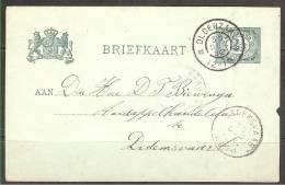 PB- EP  2 1/2 Ct De Oldenzaal à Dedemsvaart 1902 - Postwaardestukken