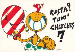 21840 Illustrateur Estin, Dessin Kesta Tum Cherches -boxe Femme -Baby Card Ed Guibray - Cpm - Boxe