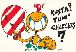 21840 Illustrateur Estin, Dessin Kesta Tum Cherches -boxe Femme -Baby Card Ed Guibray - Cpm