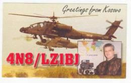 Military Helicopters, KOSOVO, 1970-80s QSL Postcard - Kosovo