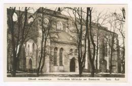 RP  Library, Universitata Biblioteko Sur Dommonto, TARTU, Eesti, 1910-30s - Estonia