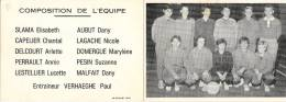 CARTE DE L'EQUIPE DE VOLLEYBALL FEMININE DE LILLE - Volleyball