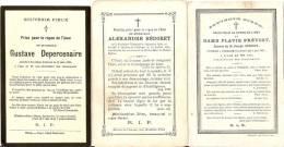 Souvenir Pieux Fontaine Valmont 3 Pieces!!!!! - Obituary Notices