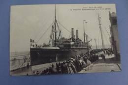 """C P  St Nazaire Le Paquebot Transatlantique """" La Navarre""""  Animé - Piroscafi"""