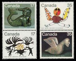 Canada (Scott No. 867a-869a - Inuits) [**] Série De 4 / Set Of 4 - Indiens D'Amérique