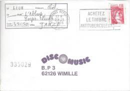 """Rennes République 29/11/1978 """"Achetez Le Timbre Antituberculeux"""" Tuberculose Maladie Respiratoire - Maladies"""
