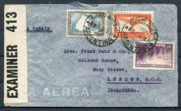 1943 Argentina London England Censor Panair Airmail Cover - Poste Aérienne