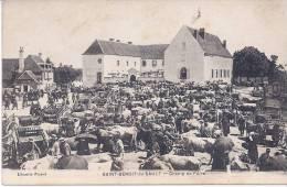 CPA 36 INDRE SAINT BENOIT DU SAULT CHAMP DE FOIRE TRES ANIMEE VERS 1910 EDIT LIBRAIRIE PERAUD - France
