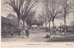 CPA 36 INDRE SAINT BENOIT DU SAULT LES PROMENADES TRES ANIMEES VERS 1910 EDIT LIBRAIRIE PERAUD - France