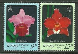 "Jersey      "" Flowers-Christmas 1984 ""    Set   SC# 346-47  MNH** - Jersey"