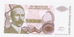 Republic Of Srpska-Banja Luka 50 000 000 000 Dinara(biggest Denominations) 1993(non-issued Banknotes)UNC - Bosnia Y Herzegovina